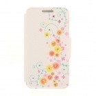 Kinston Vine Pattern Rhinestone Studded PU + Plastic Case w/ Stand + Card Slot for IPHONE 6