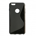 "S Shaped Protective TPU Back Case for IPHONE PLUS 6 5.5"" - Black"