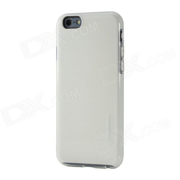 ROCK Jello Series Protective PC + TPU Back Case for IPHONE 6 4.7 - White аксессуар чехол rock jello protective shell for iphone 6 white 69439