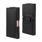 "Litchi protection PU Leather Case w / clip ceinture pour iPhone 6 4.7 ""- noir"