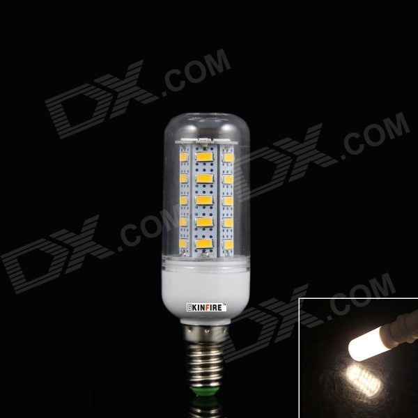 KINFIRE E14 5W 400lm 3500K 36-SMD 5730 LED Warm White Corn Lamp - White + Transparent (AC 220~240V)