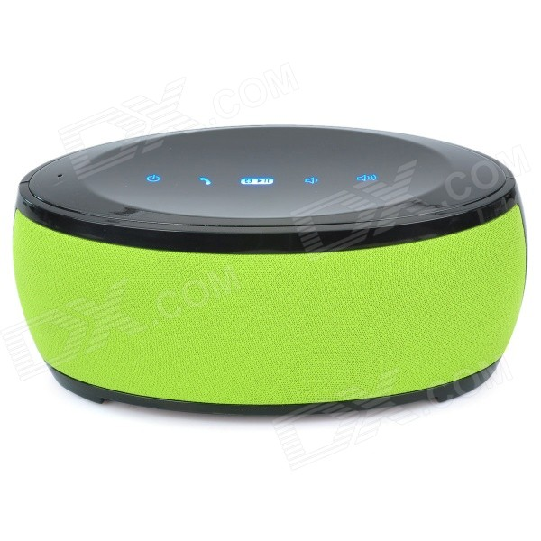 CKY BC09 Portable Wireless Bluetooth Speaker w/ Handsfree, Microphone - Black + Green