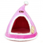 YDL-WA4012-M-2 Fashionable Christmas Hats Style Pet Bed for Pet Cat / Dog - Pink + White (M)