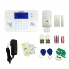 DP-830 GSM LED Home Alarm System w/ Wireless Door Sensor PIR Motion Sensor - White (US Plugs)