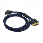 ellow Knife  Y57 DVI-D 24+1 Pin Gold Plated Male to Male Connection Cable - Black (1.5m)