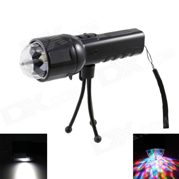 SKLED SK2 Handheld 500lm 2-Mode 2-LED White + RGB Flashlight w/ Tripod / US Plug Charger - Black велосипед author modus 29 2015