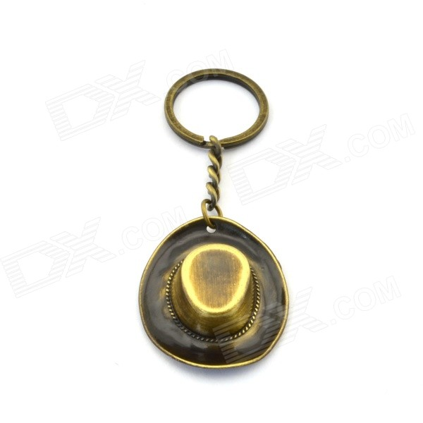 Creative Cowboy Hat Style Key Ring - Antique Brass