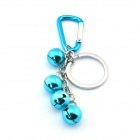 Four Bells Style Key Ring - Bluish Green + Silver