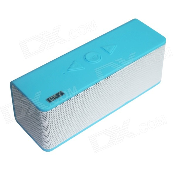 CKY BC235E Portable Wireless Bluetooth Speaker w/ TF, Handsfree, Microphone - Blue + White