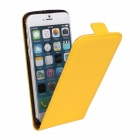 "Protective Leather Up-Down Flip-Open Case for IPHONE 6 PLUS 5.5"" - Yellow"