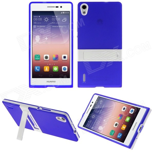 Hat-Prince Protective TPU Case w/ Stand for Huawei Ascend P7 - Deep BlueTPU Cases<br>Form ColorDeep BlueBrandHat-PrinceModelN/AMaterialTPUQuantity1 DX.PCM.Model.AttributeModel.UnitShade Of ColorBlueCompatible ModelsHuawei Ascend P7Packing List1 x Back Case<br>