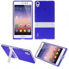 Buy Hat-Prince Protective TPU Case Stand Huawei Ascend P7 - Deep Blue