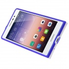 Hat-Prince Protective TPU Case w/ Stand for Huawei Ascend P7 - Deep Blue