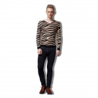 Fashion Leopard Men Sweater - Yellow + Black (Size XL)