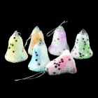 SMKJ E1HQ Christmas Bells Decorations - White + Purple (5CM / 6 PCS)