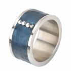 Intelligent Magic Smart NFC Ring for Smart Phone - Blue + Silver (Size 8)