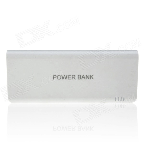 12000mAh Li-po  Dual USB Portable External Battery Power Bank for IPHONE / Samsung + More - White portable 6000mah power bank w flashlight for mobile tablet pc more pink white