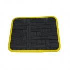 COCOON GRID-IT Elastic Band Double-Sided Creative Storage Bag w/ Zipper Bag - Black + Yellow