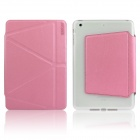 ENKAY ENK-3367 Auto Sleep / Wake-up Protective Case w/ Folding Stand for IPAD MINI / MINI 2 - Pink