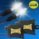H9 55W 3158lm 4300K Sunset Yellow Car HID Xenon Lamps w/ Ballasts Kit (Pair / 13.2V)