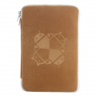 "Universal Android Robot Pattern Protective Sleeve Pouch Bag Case Cover for 7"" Tablet PC - Brown"