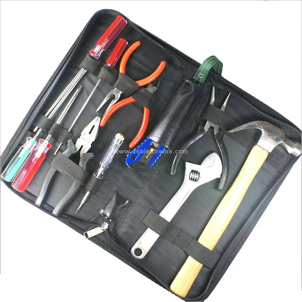 12 Pieces Set Hardware Toolkit kanssa kantolaukku