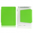 ENKAY Protective PU + TPU Smart Case w/ Stand + Auto Sleep for IPAD 2 / 4 / THE NEW IPAD - Green