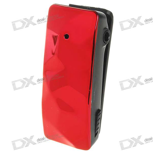 USB Rechargeable Mini 300K Pixel Pin-hole AV Camera + MP3 Player - 4GB (Red)