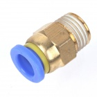 ZnDiy-BRY PC6-04 6mm to 1/2'' PT Pneumatic Quick Fittings Connectors - Yellow + Blue (5 PCS)