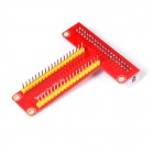 Expansion Board + 400-Hole Breadboard + 40Pin Cable DIY Kit for Raspberry Pi B+ - Red + White