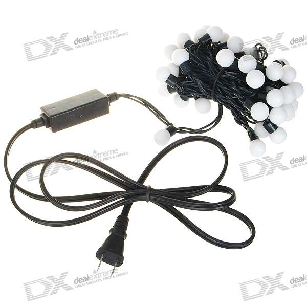 9W 50-LED RGB Decoration String Lights (5-Meter/220V AC/US Plug)