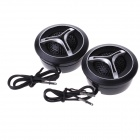 HIFINE HI-520D 28mm Tweeter Component Speaker for Car Audio System - Black (Pair)