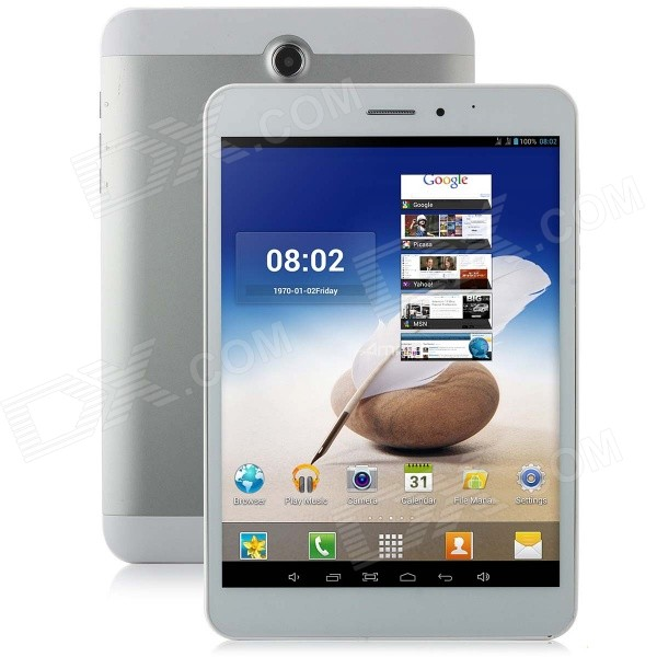 Ampe A83 Quad Core 3G 7.85 Android 4.4.2 Tablet PC w/ 1GB RAM, 8GB ROM, GPS, BluetoothWi-Fi - White sosoon x88 quad core 8 ips android 4 4 tablet pc w 1gb ram 8gb rom hdmi gps bluetooth white