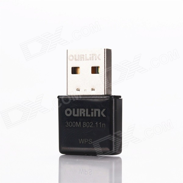 OURLINK WU330EU Mini USB Wireless Network Adapter WiFi Repeater - Black