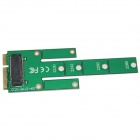 WBTUO LM-211N-V1.0 MSATA to M.2 NGFF SSD Adapter Card - Green