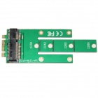 WBTUO LM-121M-V1.0 M.2 NGFF to MSATA SSD Adapter Card - Green