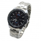 MIKE 8827 Men's Business Casual Analog Quartz Wrist Watch - Black + Silver