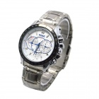MIKE 8830 Men's Business Casual Quartz Watch - Silver + White
