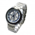 MIKE 8831 Men's Business Casual Quartz Watch - Silver + White