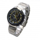 MIKE 8831 Men's Business Casual Quartz Watch - Silver + Yellow