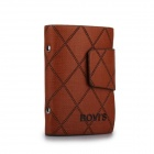 BOVIS Men's Fashion High Quality Casual Fashion Leather Card and ID Holders - Brown