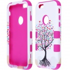 "Love Heart Tree Style Protective PC + Silicone Case for IPHONE 6 4.7"" - White + Deep Pink"