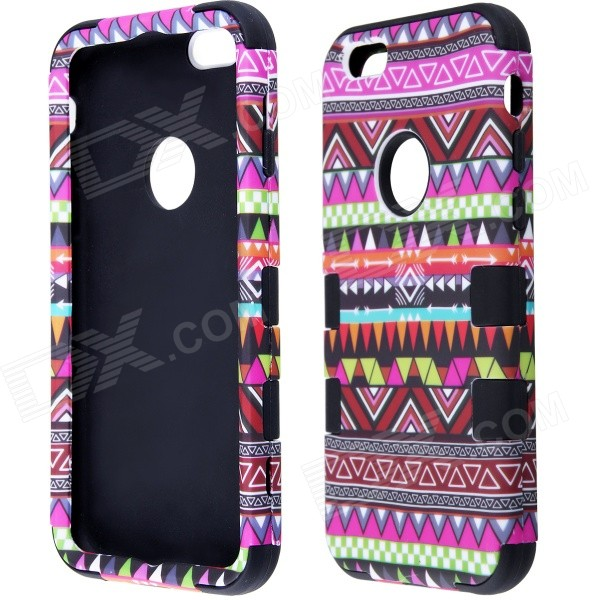 Hybrid 3-in-1 Geometric Pattern Retro Vintage PC + Silicone Case for IPHONE 6 4.7 tt tf ths 02b hybrid style black ver convoy asia exclusive