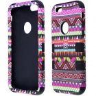 Hybrid 3-in-1 Geometric Pattern Retro Vintage PC + Silicone Case for IPHONE 6 4.7""