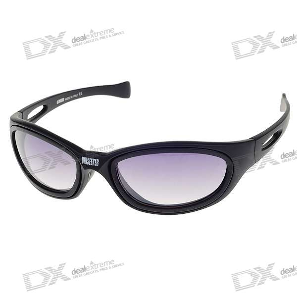 Professional Resin Lens Changeable Anaglyphic 3D + Sunglasses Set with Carrying Pouch