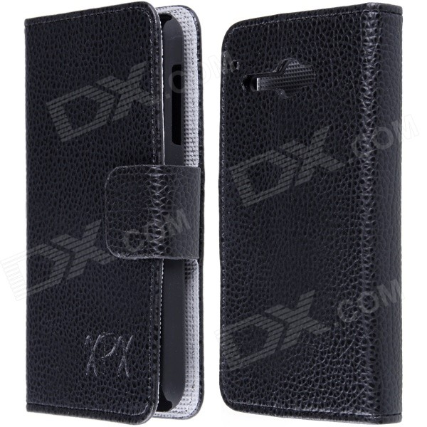 High Quality PU Leather Flip Case with Holder Stand for TCL S810 - Black pu leather menu holder restautant menu covers custom leather folders pvc page with high quality accept customized order