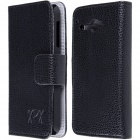High Quality PU Leather Flip Case with Holder Stand for TCL S810 - Black