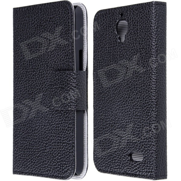 High Quality PU Leather Flip Case with Holder Stand for TCL S820 - Black - DXLeather Cases<br>Protect your phone from scratches bump shock and other elements in daily use. Convenient stand function Unique design fashionable and stylish<br>