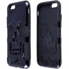 "2-in-1 Skull Head Pattern Protective PC + Silicone Case for IPHONE 6 4.7"" - Black"