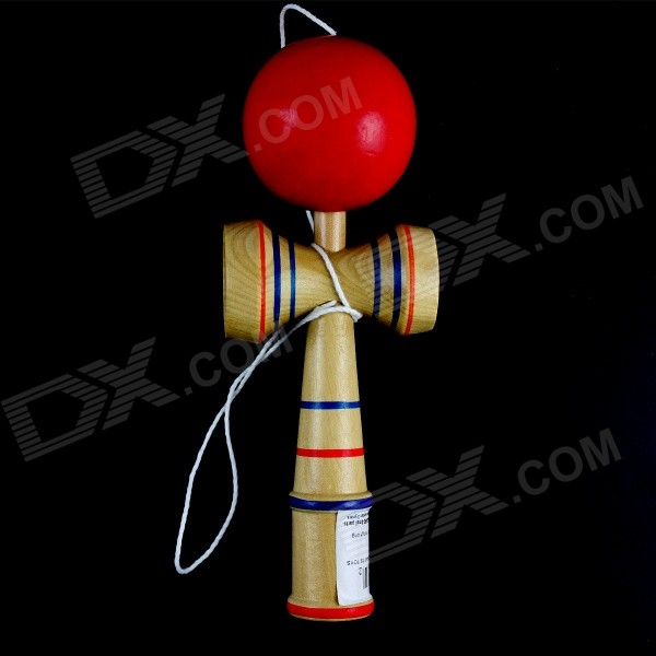 Фото Classic Aftertaste Kendama Puzzle Game Toy - Wood + Red